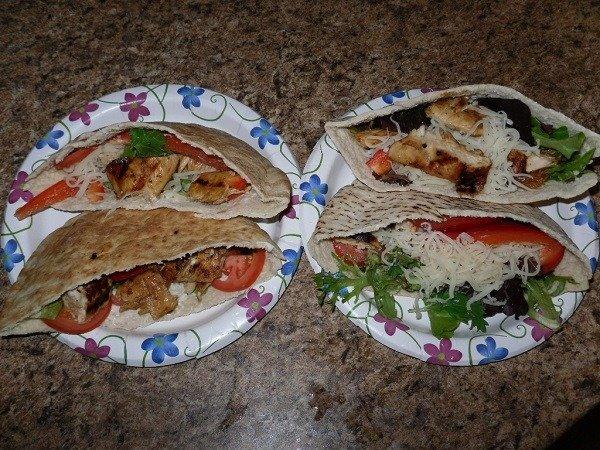 Mozzarella Cheese Chicken Pita Sandwich Recipe