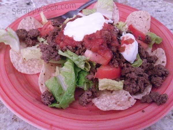 Plated Taco Salad Recipe