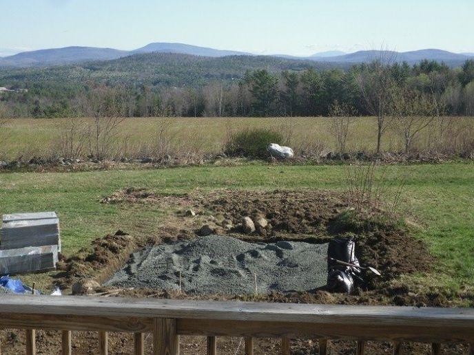 Adding gravel base for a patio