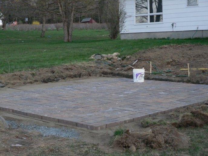 Laying a paver patio