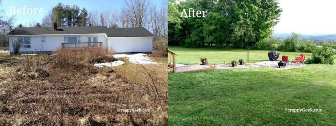 backyard makeover before and after scrappy geek