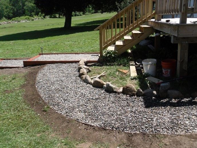 How to make a stone walkway