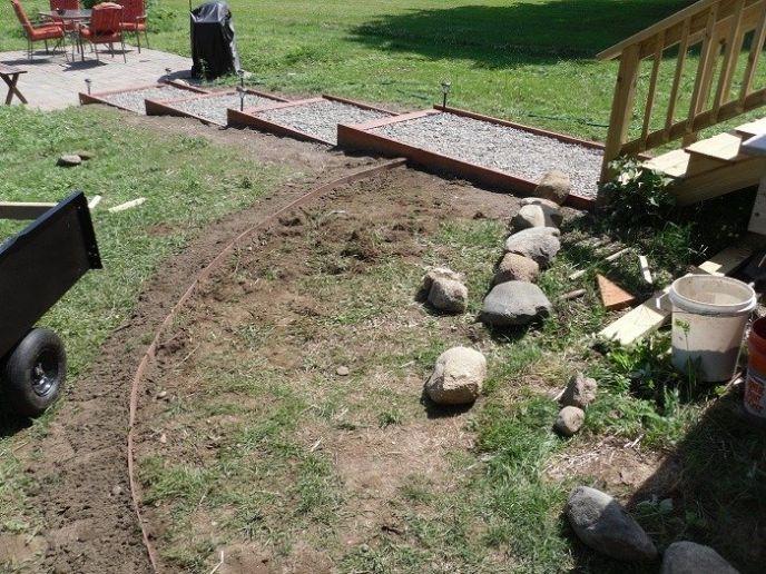 Making a stone walkway