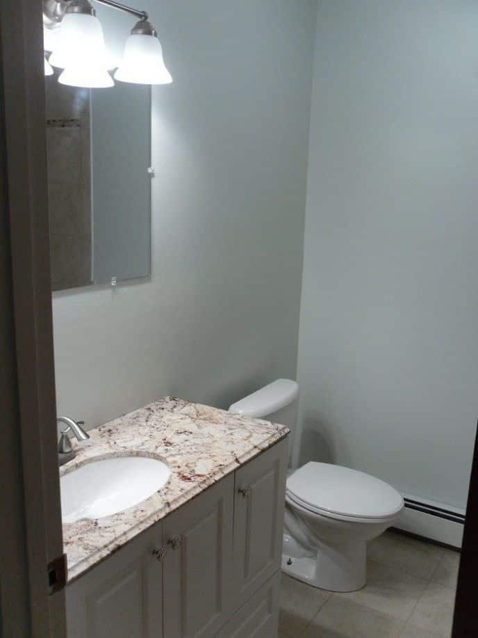 Bathroom Vanity and Toilet, bathroom remodel DIY