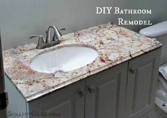 DIY Bathroom Remodel Project – Scrappy Geek
