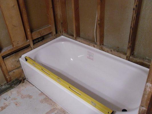 Leveling the BootzCast bathtub