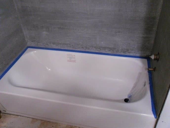 Installing Tile Board Around Tub - Round Designs