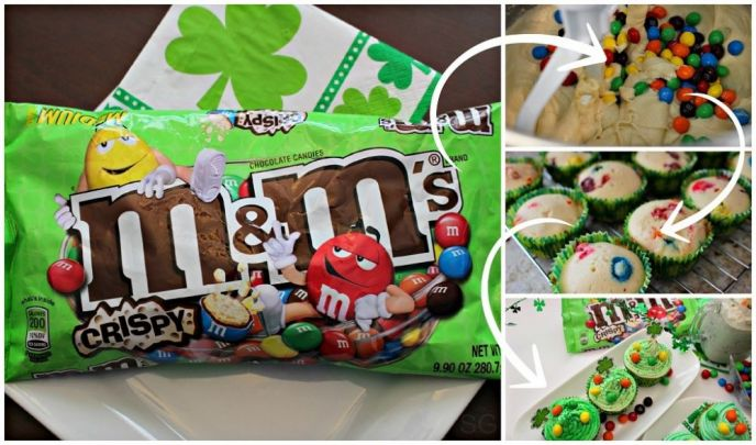 St. Patrick's Day Cupcake Recipe with M&M's® Crispy Candies