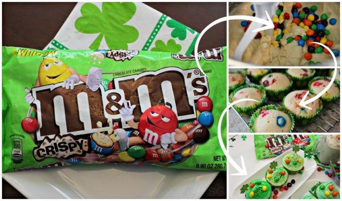 St. Patrick's Day Cupcake Recipe with M&M's® Crispy Candies