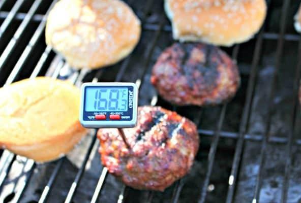Stuffed BBQ Hamburgers