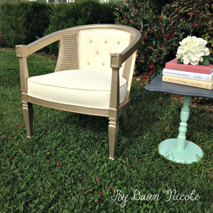How to Makeover a Barrel Cane Chair