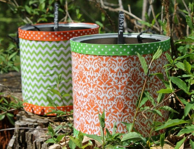 Hanging Coffee Can Planters DIY Project