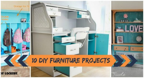 10 DIY Furniture Projects, Hacks and Makeovers