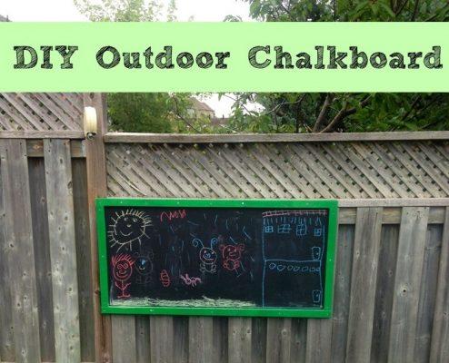 Outdoor DIY Chalkboard
