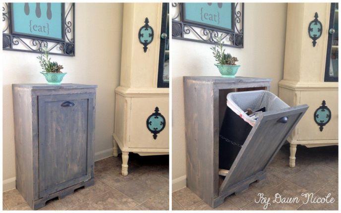 DIY Wood Track Cabinet. 10 DIY Furniture Makeovers