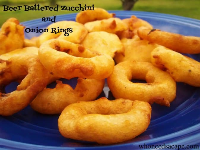 Beer Battered Onion Rings and Zucchini Recipe