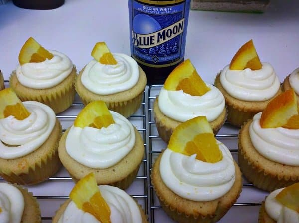 Blue Moon Beer Cupcakes