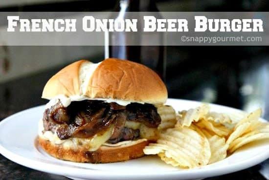 French Onion Beer Burger Recipe