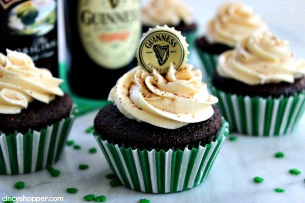 Guinness Beer Cupcakes, Bailey's Frosting