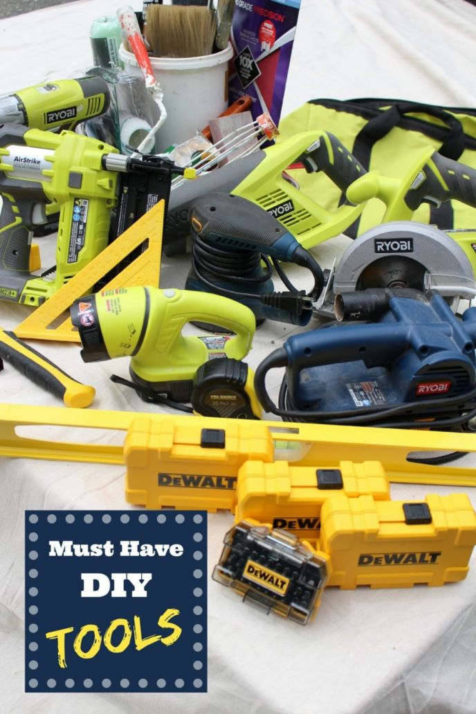 Must have DIY tools. These tools will get you through every DIY project and home improvement project. Learn which tools I recommend by clicking now!