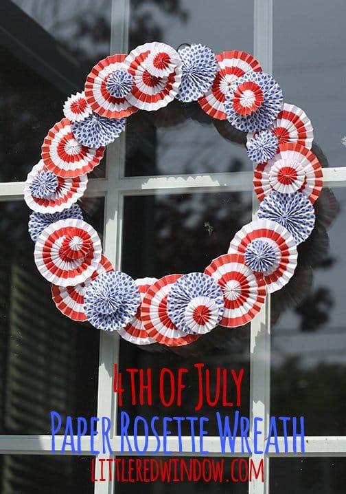 4th of July Rosette Door Wreath
