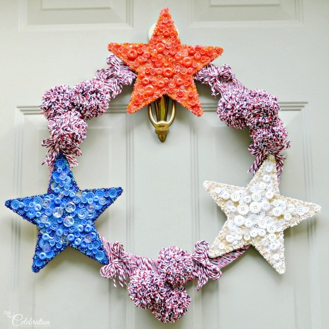 Crafty DIY Patriotic Door Wreath