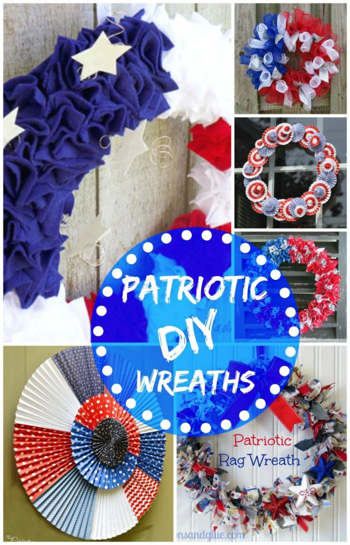 DIY Patriotic Door Wreaths
