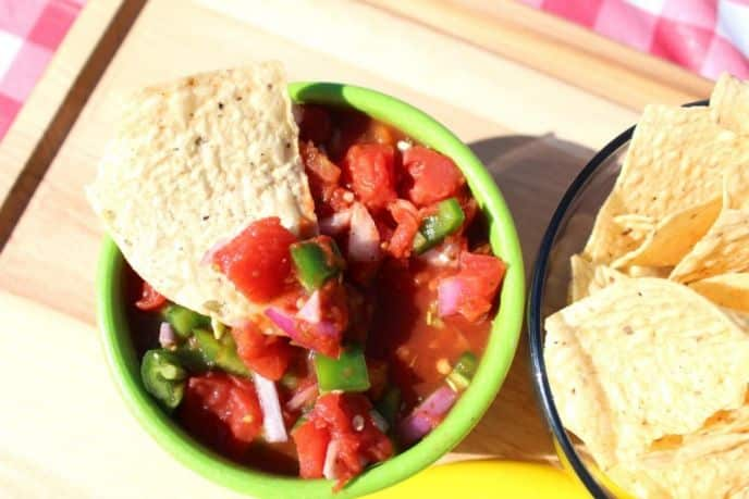 Easy Homemade Chunky Salsa Dip