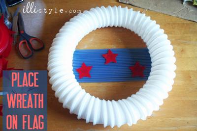 Easy DIY Patriotic Door Wreath