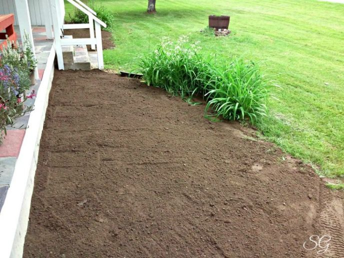 A diy weekend with bigelow iced tea for Soil grading
