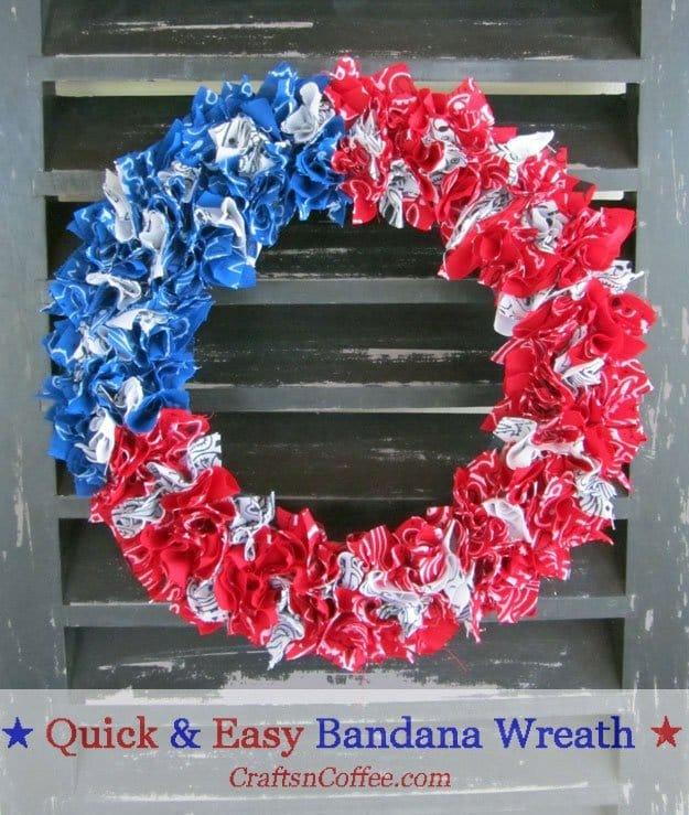 DIY Patriotic Bandanna Wreath