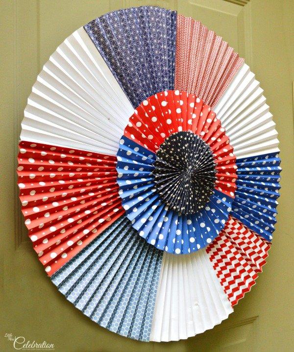 DIY Patriotic Door Rosette Wreath
