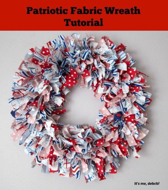 Patriotic DIY Fabric Wreath