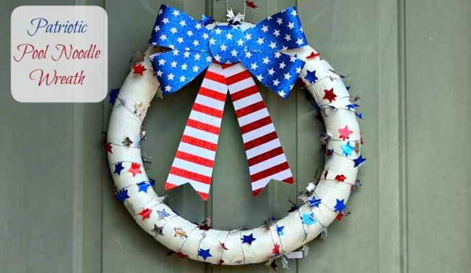 Patriotic Pool Noodle Wreath