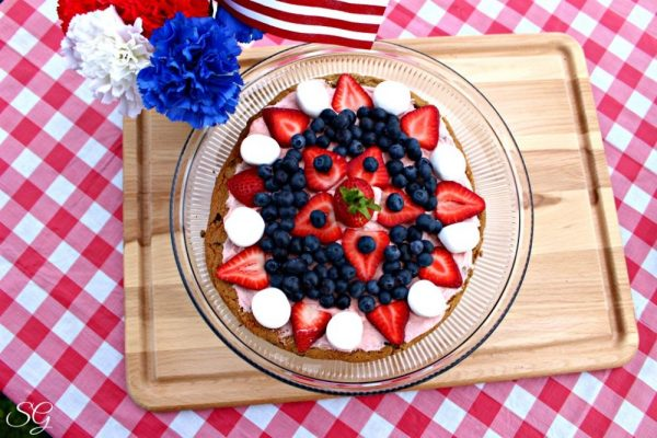 4th of July Cookie Pizza Dessert