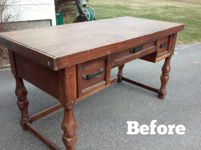 You won't believe what this desk looks like now!