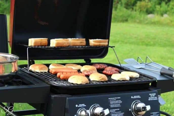 Barbecue Hot Dogs and Hamburgers