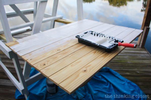 DIY White Plank Photo Background