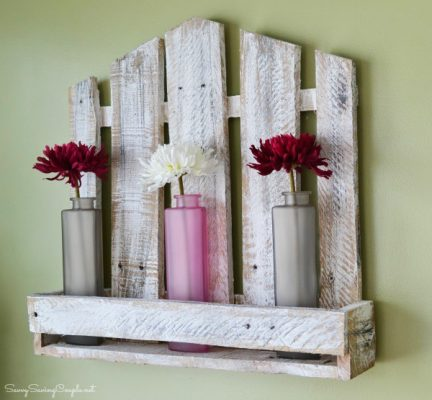 Upcycled Reclaimed Pallet Wood Shelf