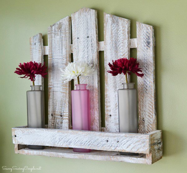 Upcycled Reclaimed Pallet Wood Shelf