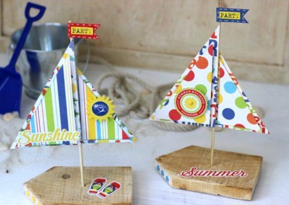 DIY Sailboat Crafting Project Using Pallet Wood