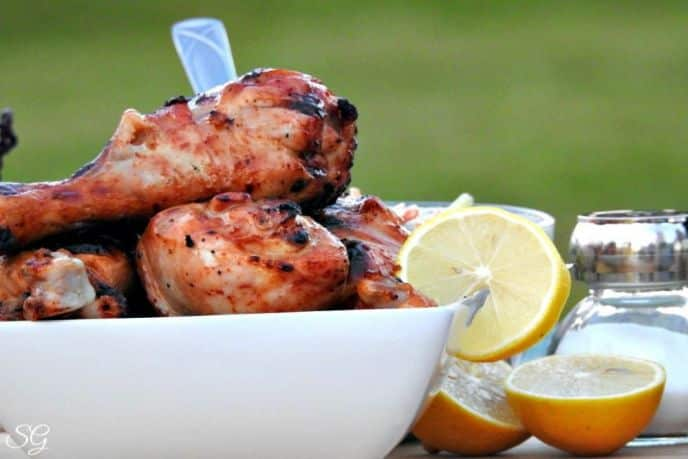 Grilled Chicken Drumsticks with Habanero Hot Sauce