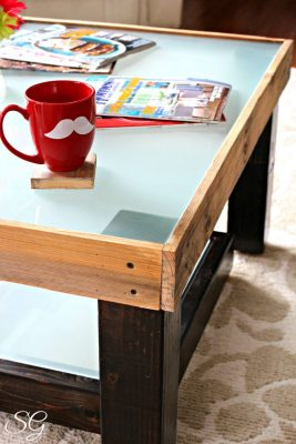 DIY Upcycled Coffee Table