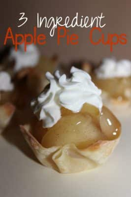 Three Ingredient Apple Pie Cups