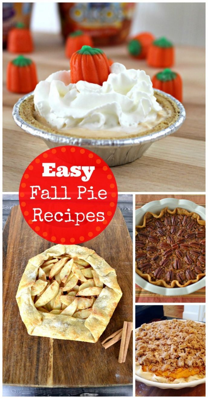 Super EASY and delicious fall pies! Apples and pumpkin oh my! EASY fall pie recipes await!