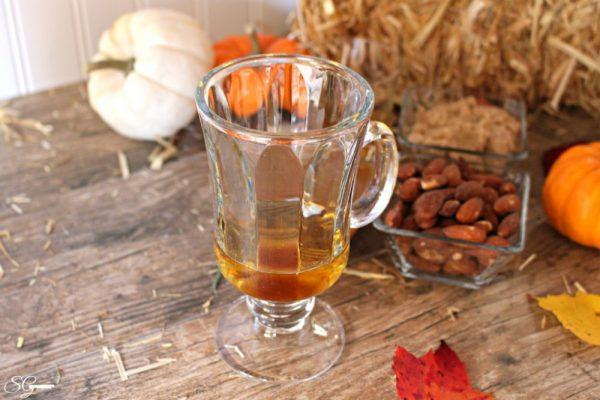 Irish Iced Coffee with Brown Sugar and Caramel Syrup