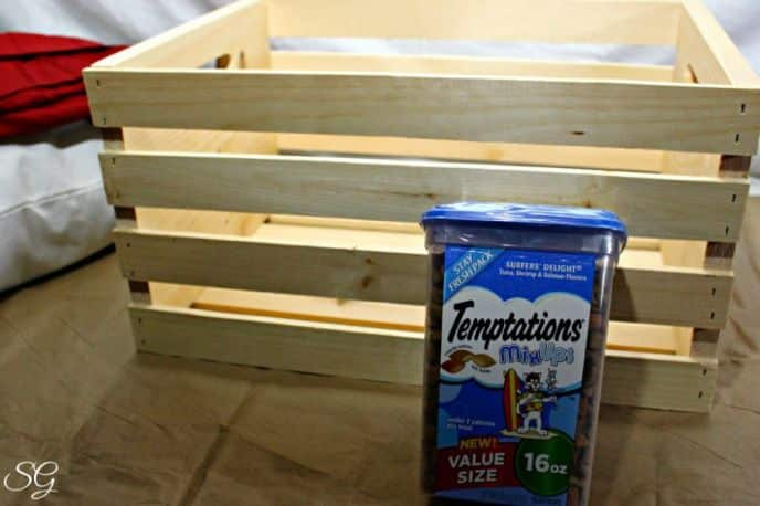 Wooden Wine Crate Cat Bed DIY Project