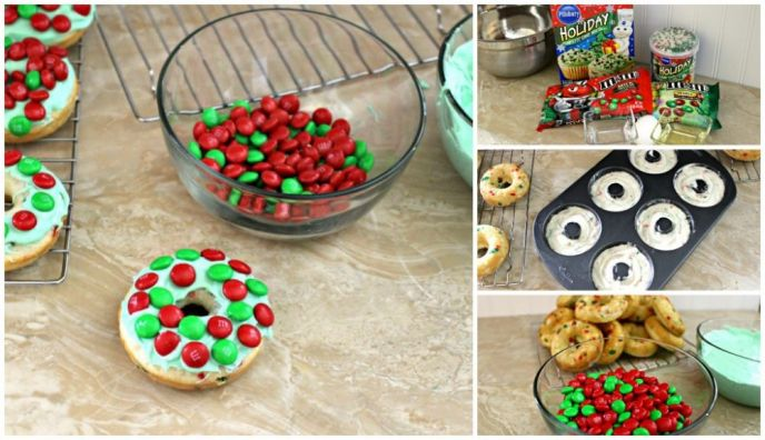 Holiday Wreath Cake Donut Recipe