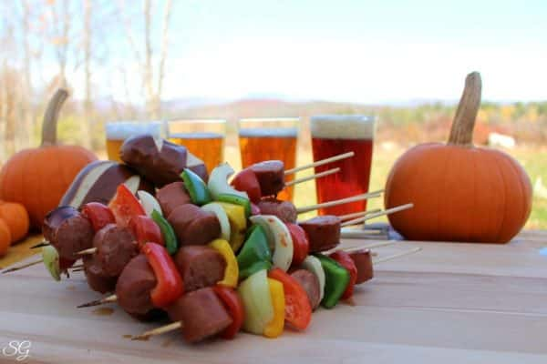 Oktoberfest Beer and Kebabs in New Hampshire