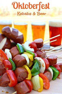 Oktoberfest Kebabs and Beer